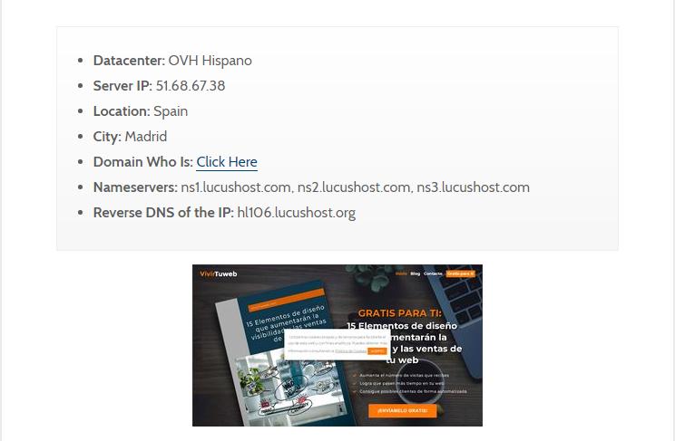 Hostingchecker saber el hosting de una web