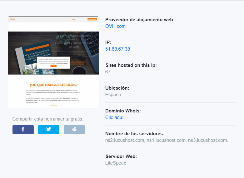 Hostadvice saber el hosting de una web