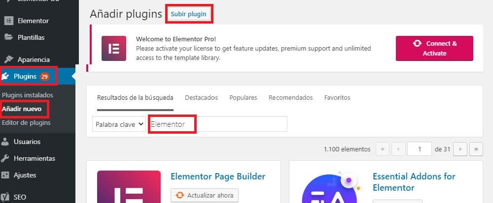 instalar wordpress con un clic instalar plugins