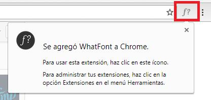 saber la tipografía de una web con whatfont