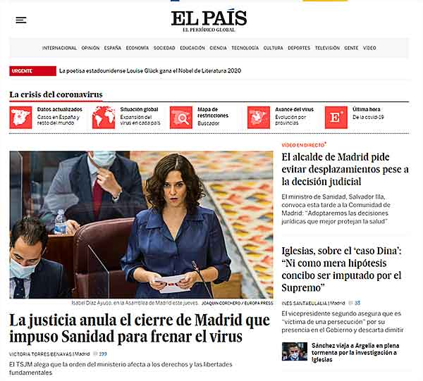 diseño web estratégico: El País