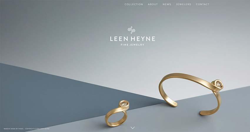 Ejemplos de diseño web minimalista LEEN HEINE