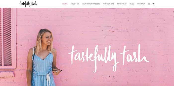 Páginas web personales ejemplos Tasha Meys