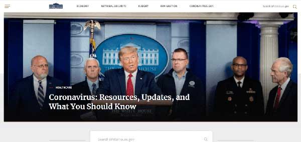 Ejemplos de blogs WordPress Página oficial de la Casa Blanca