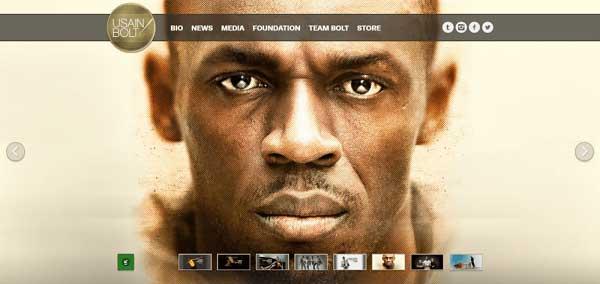 Ejemplos de  blogs WordPress Usain Bolt