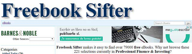descargar libros ebook gratis freebook sifter