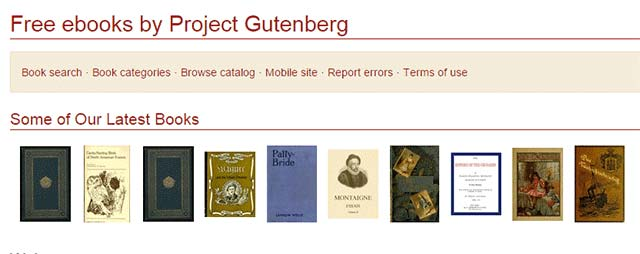descargar epub gratis Project Gutenberg