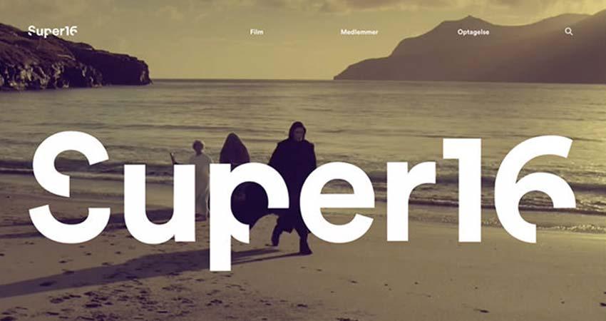 Diseño web minimalista ejemplos Super16
