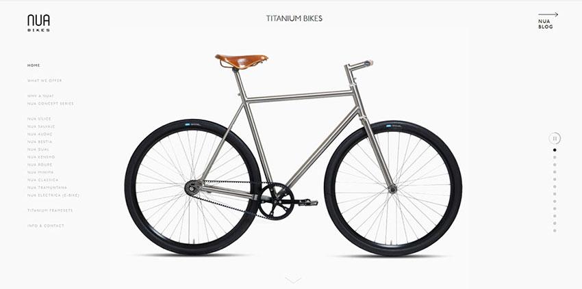 Web minimalista Nua Bikes