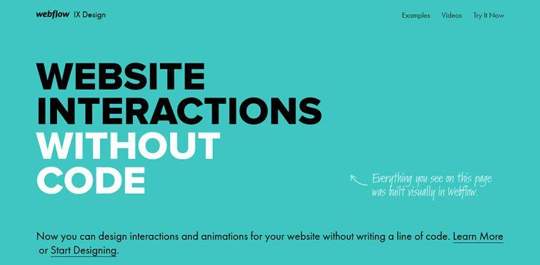 Flat desing ejemplo: Webflow
