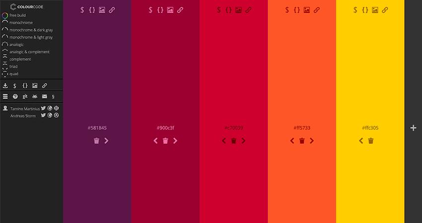 Paleta de colores rgb Colour Code