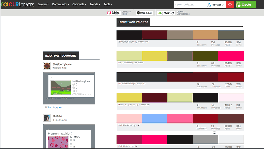 Paletas de Colores Complementarios Colour Lovers